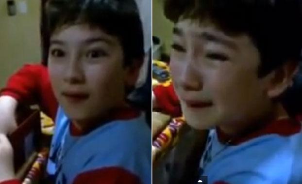 """La reacción de un chico al ser """"engañado"""" por sus padres al darle un regalo"""