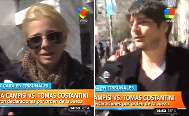 Jimena Campisi y Tomás Costantini: tras cuatro horas de audiencia, ¡la jueza los mandó al psicólogo!