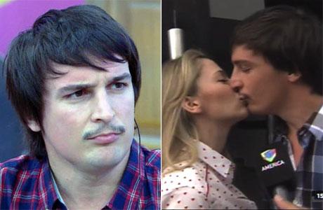 Martín Amestoy tras los pasos de Rocío Gancedo: beso y coqueteo en vivo
