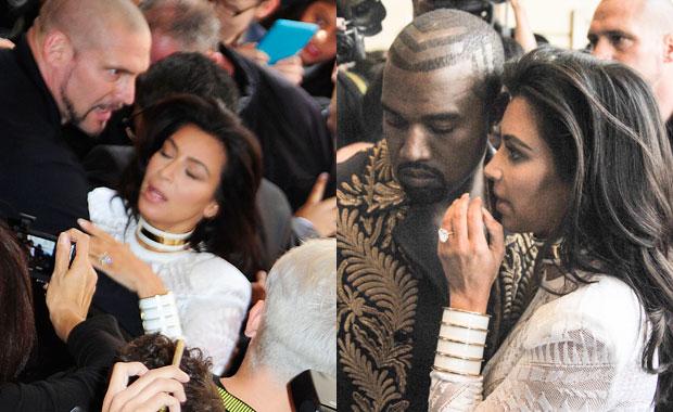 Kim Kardashian fue atacada por un periodista: intentó