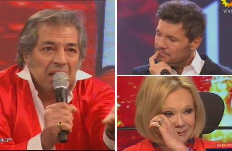 El imitador de Sandro que hizo llorar de emoción a Tinelli y Soledad Silveyra