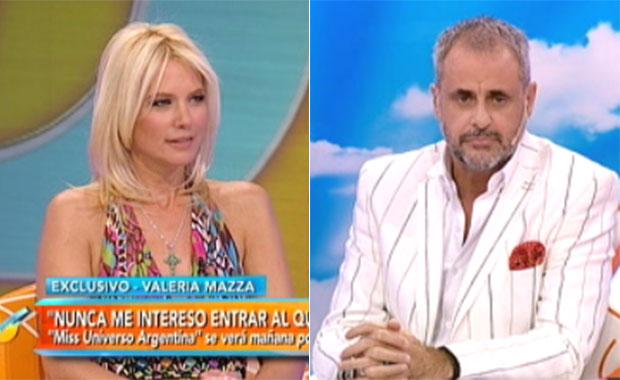 La pregunta con la que Jorge Rial incomodó a Valeria Mazza