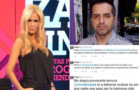 Ángel de Brito, lapidario con Viviana Canosa: