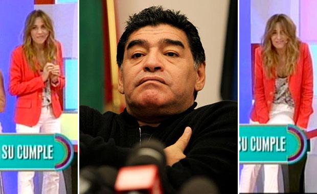 El incomodísimo silencio de Diego Maradona ante una picante pregunta de Verónica Lozano