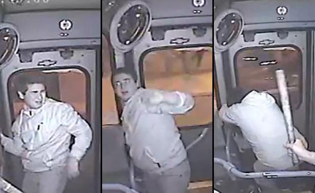 Con una sóla mano y sin frenar el colectivo, chofer detiene a un ladrón y lo entrega a la policia