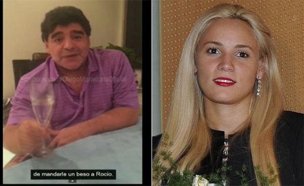Polémico: mirá el video original de Diego Maradona en el que le habló a Rocío Oliva
