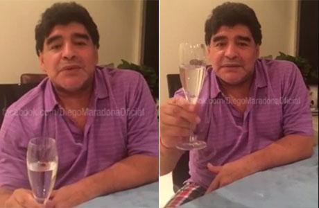 Diego Maradona agradeció los saludos de cumpleaños y nombró a las 5 personas que quería que estén