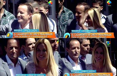 Así fue la entrada de Jésica Cirio y Martín Insaurralde al Registro Civil