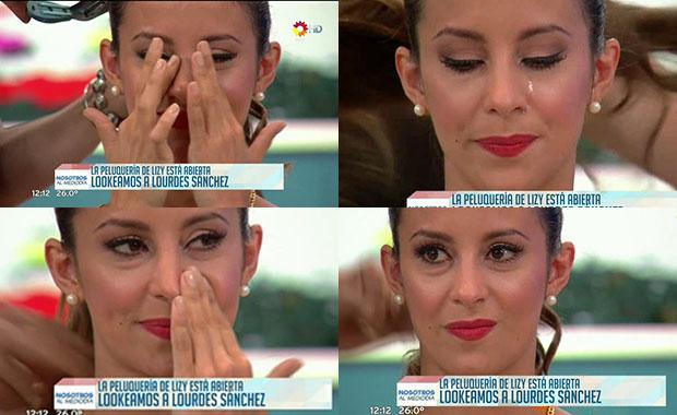 Lourdes Sánchez lloró ante una pregunta