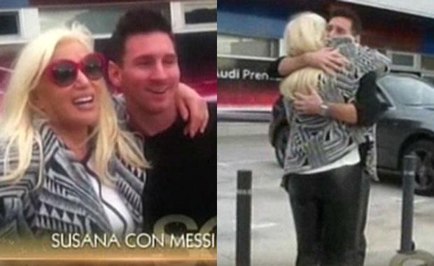 Susana Giménez y el cálido encuentro con Lionel Messi