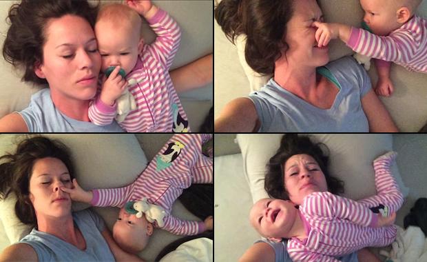 ¡El video más tierno del mundo! La bebé que no deja dormir a su mamá