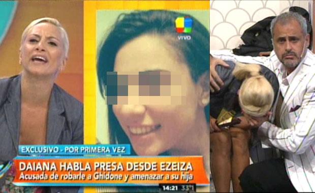 Tremendo cruce en vivo de Andrea Ghidone con la acusada de robar su casa