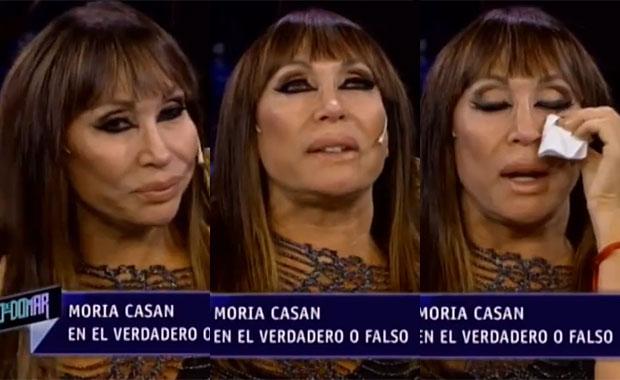 Moria Casán lloró al hablar del padre de Sofía Gala: