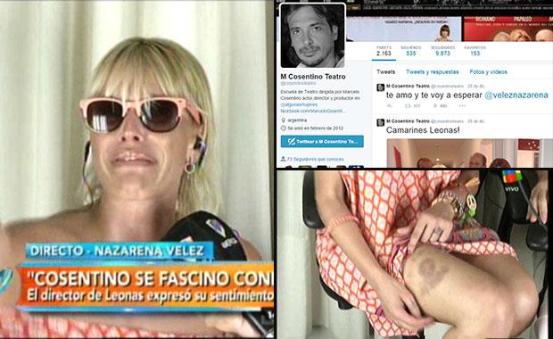 Nazarena Vélez: su respuesta a la declaración de amor de Marcelo Cosentino y una shockeante confesión