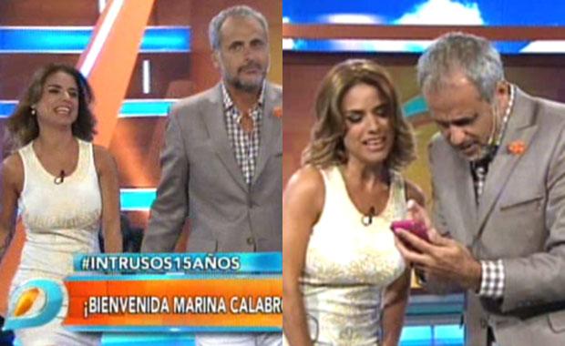 Marina Calabró se incorporó a Intrusos: ¡mirá la divertida bienvenida de Jorge Rial!