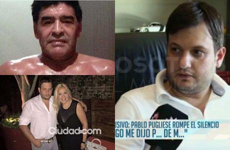 El insulto de Maradona al novio de Verónica Ojeda