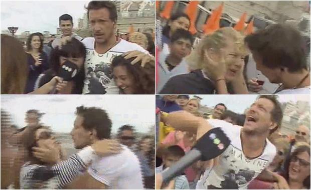 Nicolás Vázquez repartió besos en un móvil con AM