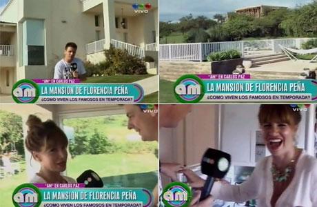 Florencia Peña mostró la mega y lujosa casa en la que se hospeda en Carlos Paz