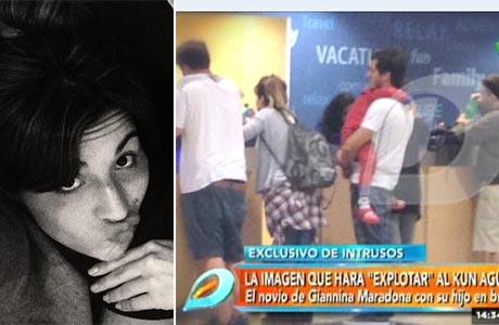 La respuesta de Gianinna Maradona por la foto junto a su novio y su hijo que mostraron en Intrusos: