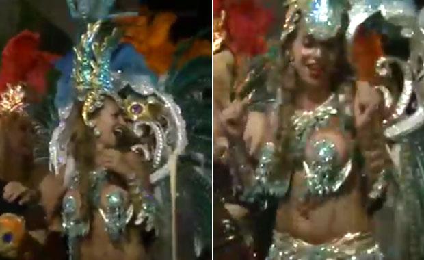 Florencia Peña deslumbró en el carnaval de Villa Carlos Paz