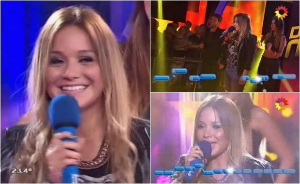 La Princesita Karina cantó en Dar la nota