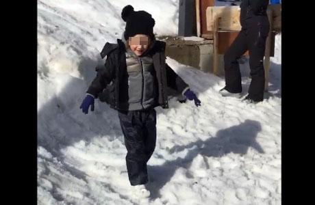 Mini vacaciones: Wanda Nara y un día de esquí con sus hijos en Courmayeur