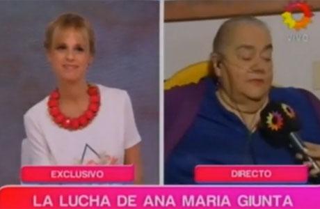 Así Ana María Giunta hablaba de su delicada salud, afectada por el cigarrillo y la obesidad