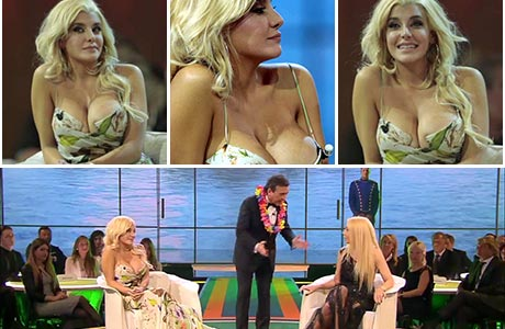 El súper exuberante escote de Charlotte Caniggia en la TV italiana que recorrió el mundo: el video