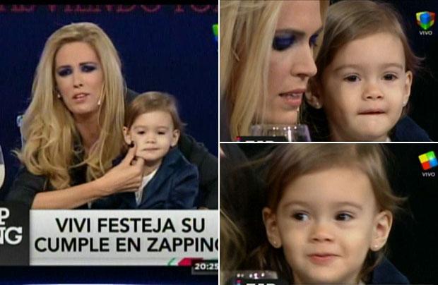 Canosa presentó a su hija en vivo en Zapping