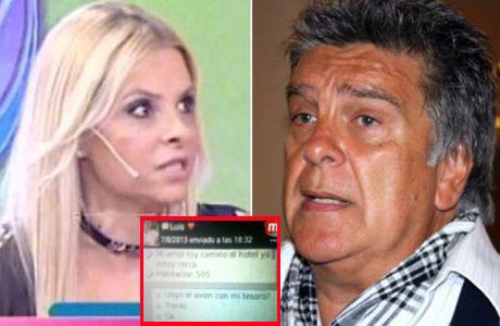 Fabiana Liuzzi mostró los mensajes íntimos con Ventura