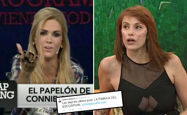 Viviana Canosa se burló de Connie Ansaldi en Zapping por la falsa muerte de Thalía