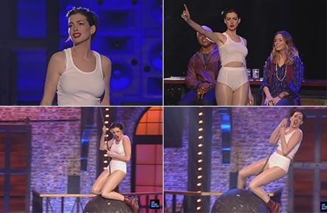 La espectacular performance de Anne Hathaway como Miley Cyrus: el video