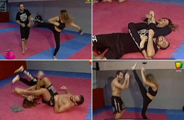 Natalia Franzoni desafió a los luchadores de vale todo