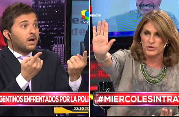 Silvia Fernández Barrio y Diego Brancatelli se cruzaron feo en Intratables