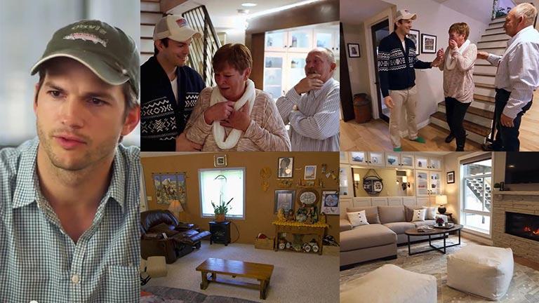 ¡Se recibió de tierno! Ashton Kutcher le remodeló parte de su casa a su mamá: el video con la reacción de ella