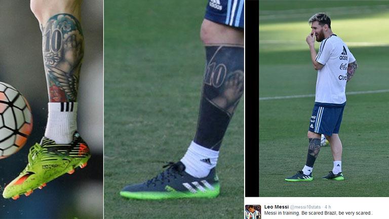 Lionel Messi Se Hizo Un Jugado Cover Up En El Tattoo De Su Pierna