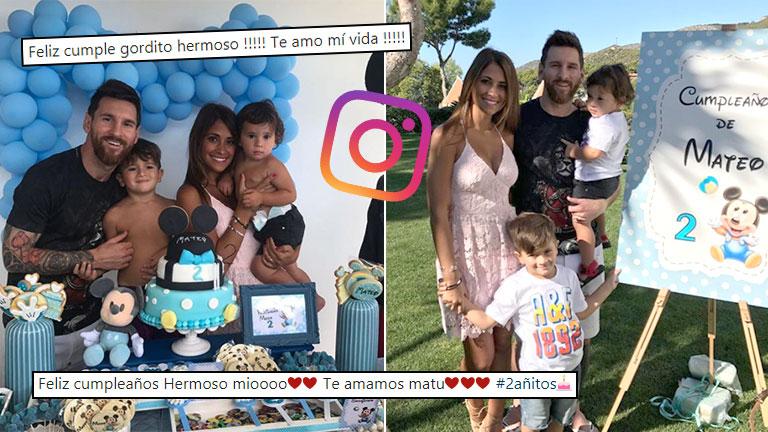 Lionel Messi Y Antonela Roccuzzo Celebraron Los Dos Anos De Mateo
