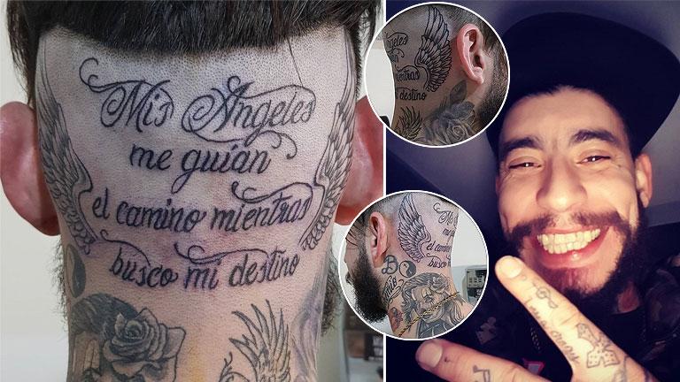 El Tremendo Tatuaje Que Ulises Bueno Se Hizo En Su Nuca Mis