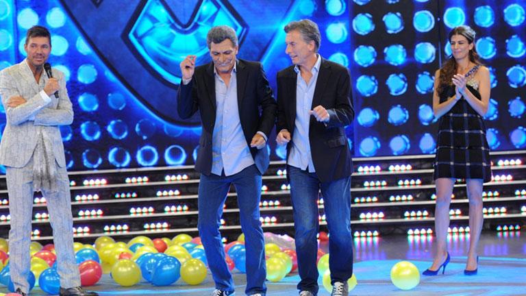 Bailando 2015: Mauricio Macri junto a Martín Bossi