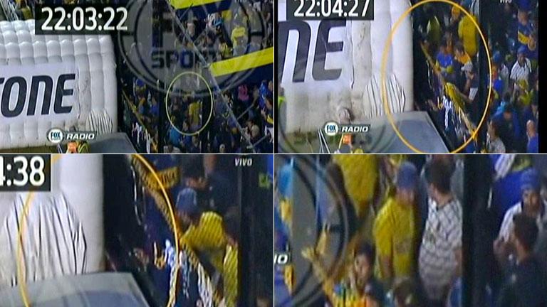 El video del ataque con gas pimienta a los jugadores de River en la Bombonera