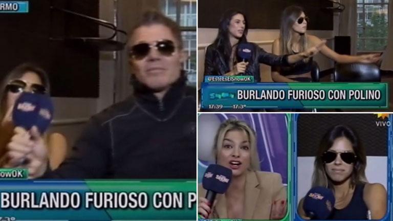 Burlando se va del móvil y Barby Franco se cruza con Ailén Bechara