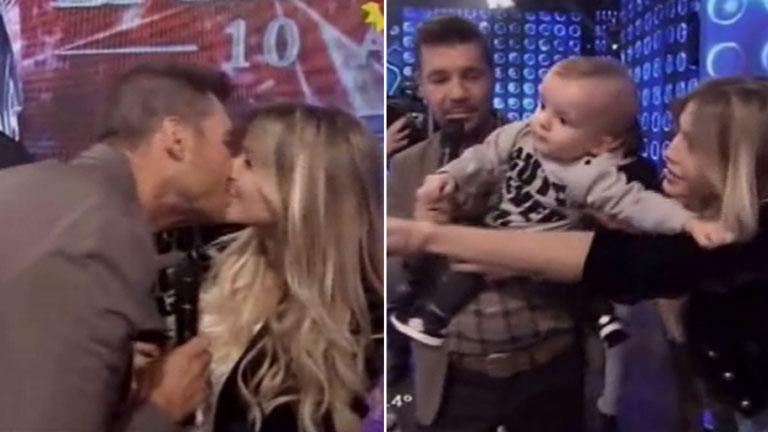 Tinelli, Valdés y un tierno beso al aire