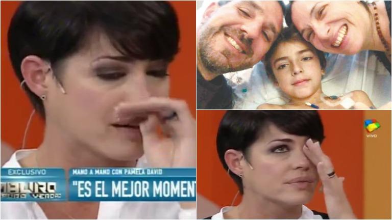 La emoción de Pamela David por el caso de Lucas Lemlich, un chico con leucemia