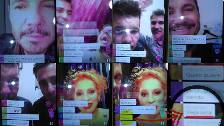 Marcelo Tinelli debutó en Periscope: risas y un mensaje en vivo que descolocó a Nacha Guevara