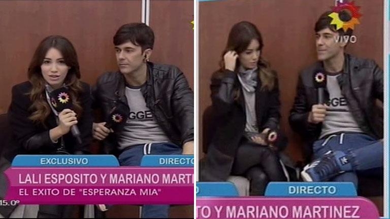 Lali Espósito y Mariano Martinez hablaron del musical de Esperanza
