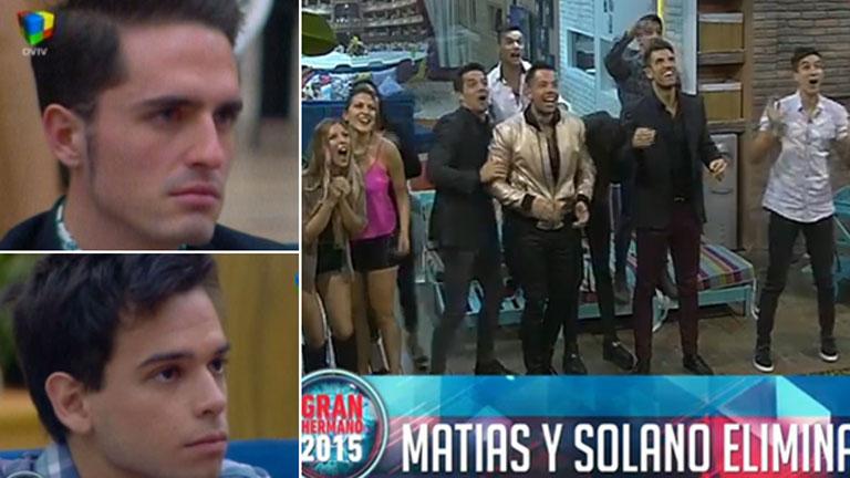 Matías y Solano, los nuevos eliminados de la casa de GH 2015