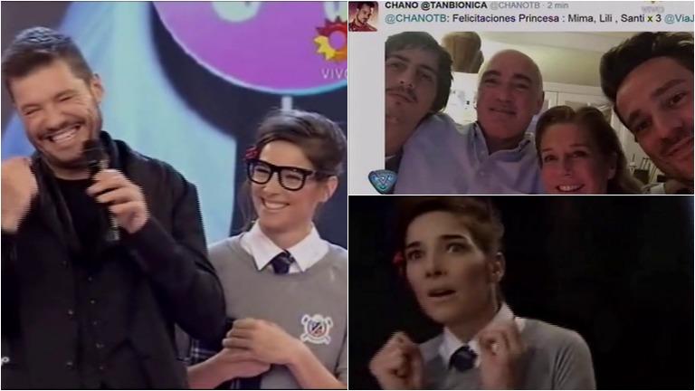 Juana Viale es sorprendida en ShowMatch por un tweet de Chano Charpentier