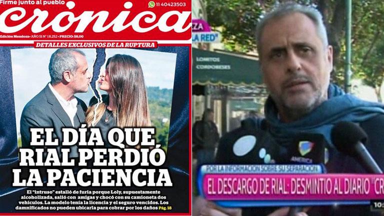 Jorge Rial, enojado con un diario: