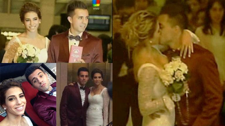 Cinthia Fernández y Matías Defederico se casaron por Civil
