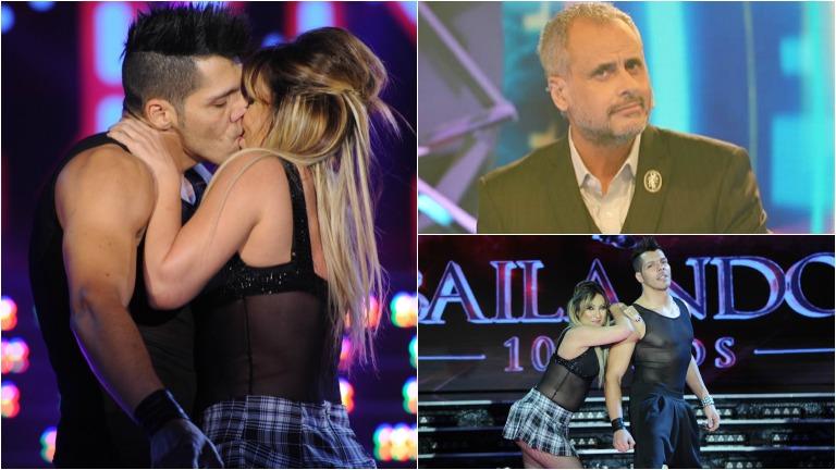 El apasionado beso de Marcela Tauro en Bailando 2015